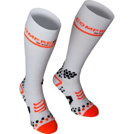 Compressport Full Socks térdzokni fehér